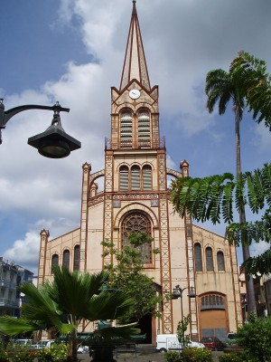 Cathedral in Fort de France in Martinique