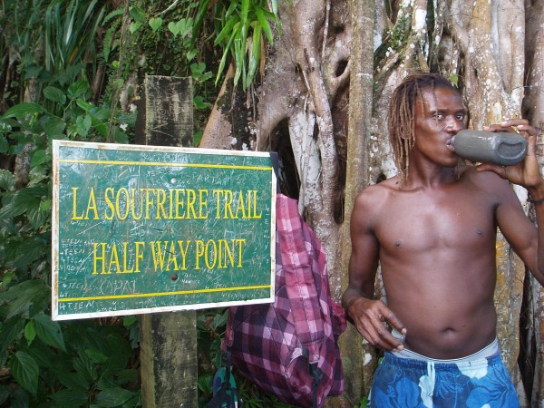Bare Foot Hiking Guide in Saint Vincent