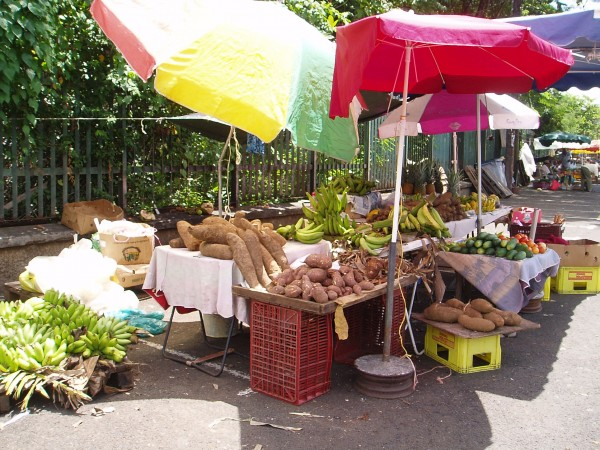 Fresh Produce Vendor in Fort de France in Martinique