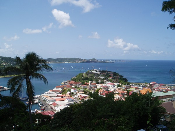 Bay in St. Georges in Grenada