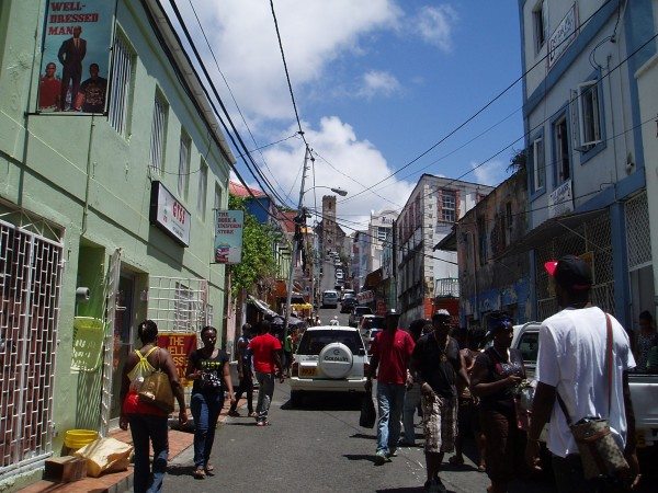 People in Capital City 'Saint Georges' in Grenada