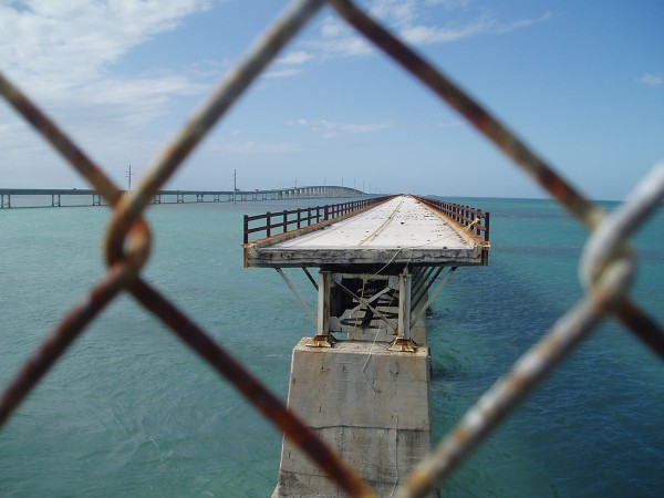 The Old (Right) and New (Left) 7 Mile Bridge in the Keys