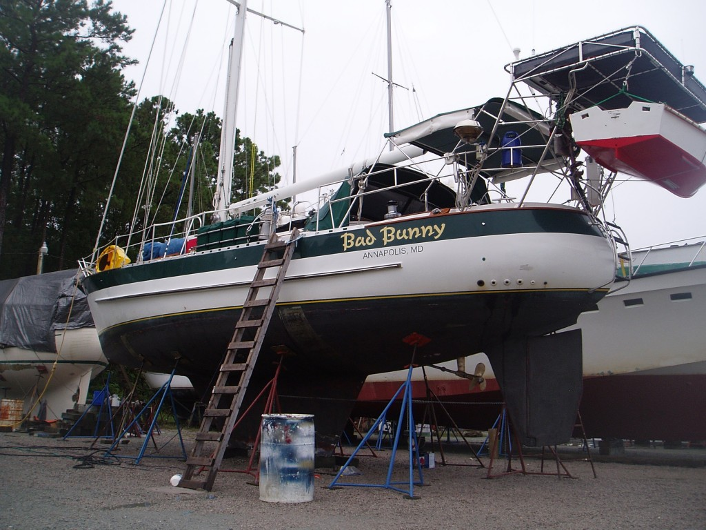 Bad Bunny Ready for Refit at Bock Marine, North Carolina in August 2014