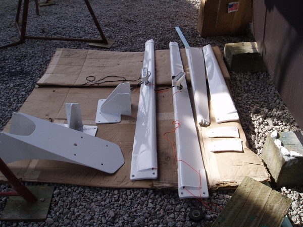 Repainted Spreaders and Misc. Parts