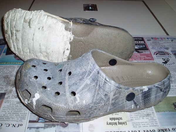 John's Crocs Shoes Repaired with Glue 5200