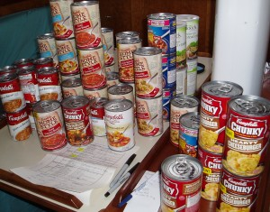 60 Cans of Soup: Open a can and eat it, when it's difficult to cook.