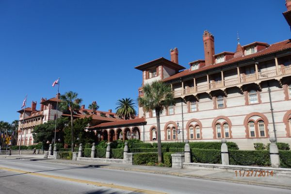 Ponce de Leon Hotel (Now Flagler Collage): During the winter of 1883-84, Henry Flagler, co-founder of Standard Oil Co., visited the city and later built the Hotel Ponce de Leon, Hotel Alcazar, the Memorial Church and more.