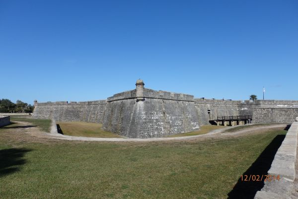 Castillo de San Marcos: Spain's Queen Regent Mariana ordered the construction of a new fort made of stone realizing that St. Augustine was the keystone in the defense of the Florida coast.