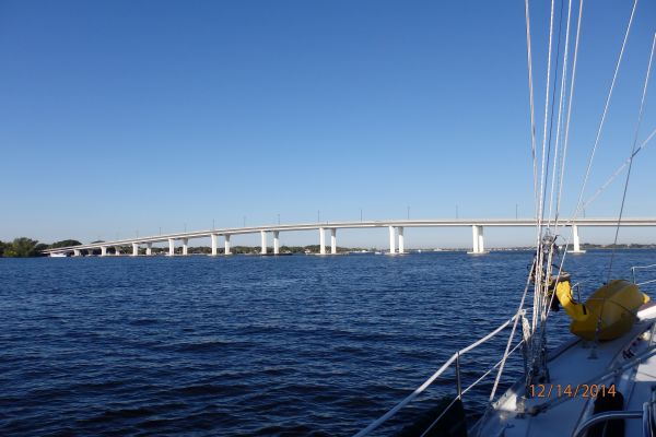 One of the bridges we couldn't pass on the Saint Lucie River (Okeechobee  Waterway).