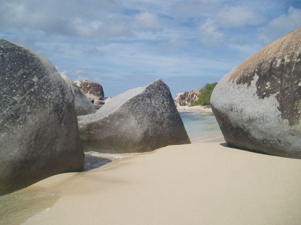 Rocks on Soft Sand
