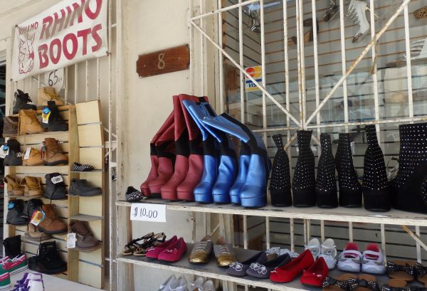 Deal on Tortola Island, $10 for a Pair of Boots