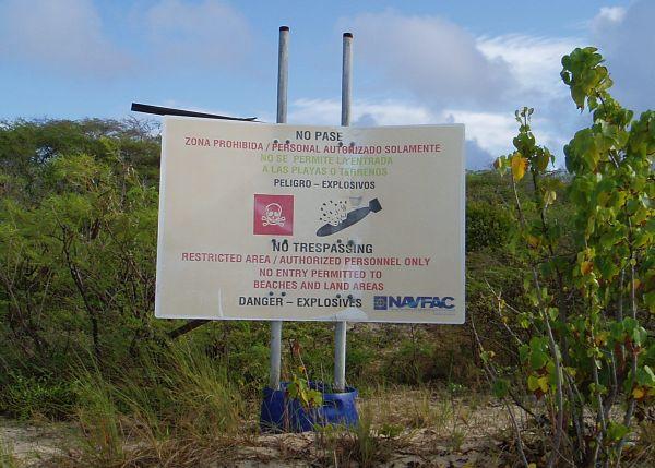 Danger - Explosives; No Trespassing Sign