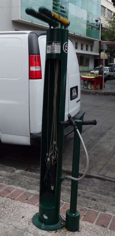 Public Bicycle Repair Station with Tools