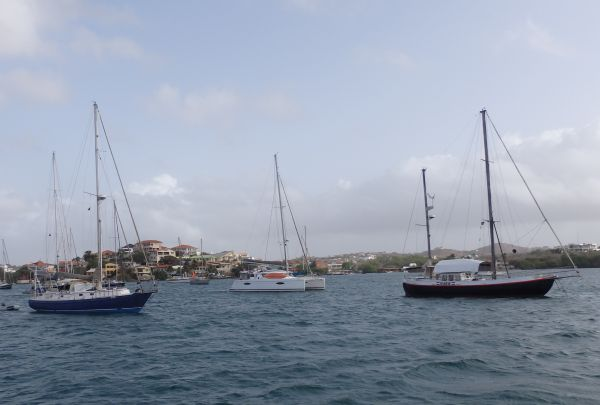 Left Side Neighboring Boats (Blue Boat from Argentina, White from Norway, and Black from Netherlands)