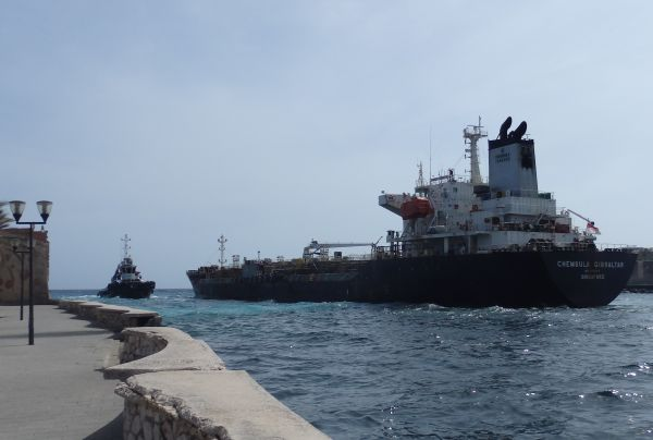 Ship Leaving the Channel in Willemstad
