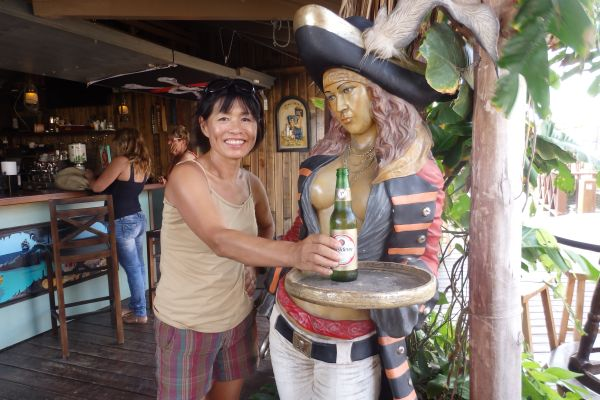 Happy Hour at 'Pirates Nest Bar' by Spanish Water Anchorage in Curacao
