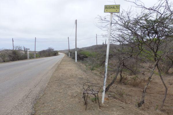 Public Bus Stop Near Shete Boka National Park