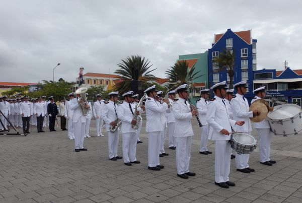 Chilean Navy Marching in the Morning