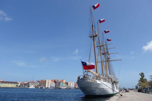 Chilean Tall Ship 'Esmeralda' Visiting Curacao