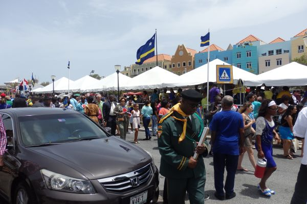 People Celebrating Curacao National Flag Day