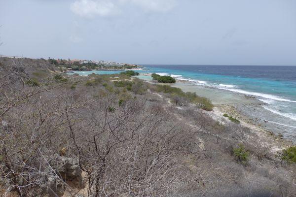 View of Jan Thiel Beach from Jan Thiel Preserve Hiking Trail