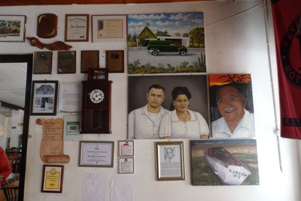 History Wall in Jaanchie's Family Restaurant Since 1936