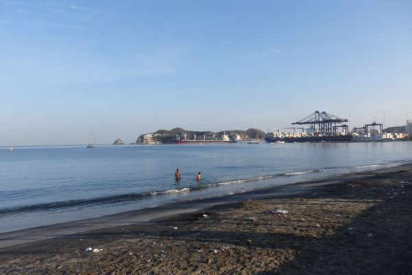 Another Beach Near Santa Marta Port
