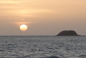 Sunset View from Cabo de la Vela Anchorage