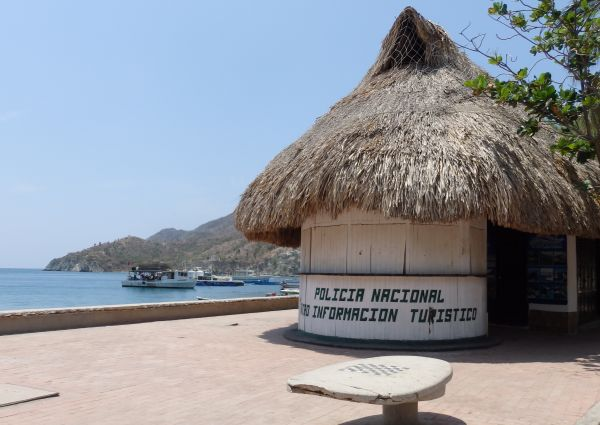 Police Station and Tourist Information Booth in Taganga Beach