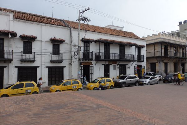 Yellow Cabs in Downtown Santa Marta