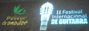 Second International Guitar Festival Sign on the Wall of  the Cathedral