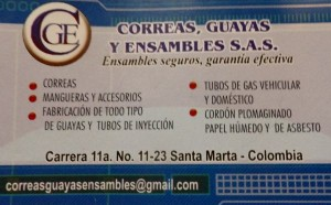 CGE contact information, where we went for hose fittings and assemblies both hydraulic and water