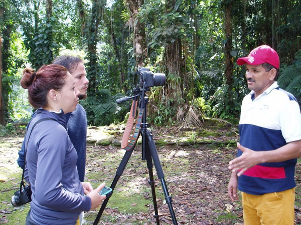 Our guide, Edwin Rey was being interviewed by a conservation team from Spain.