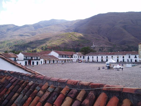 Plaza Mayor in Villa de Leyva, Colombia