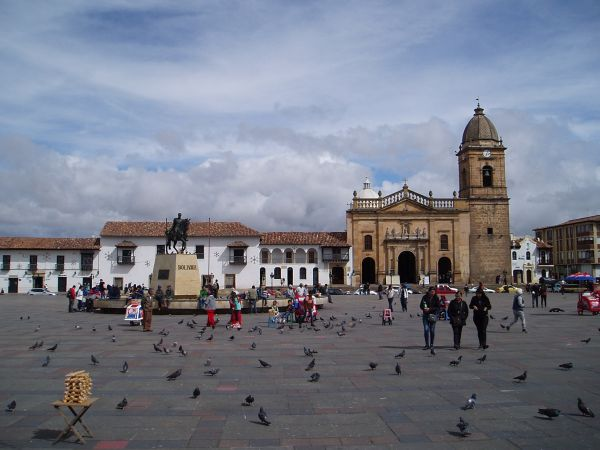 Plaza in Tunja, Colombia