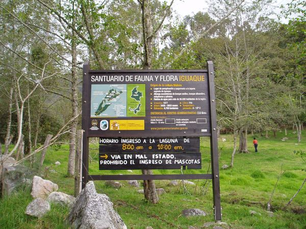 Trail Entrance in Santuario de Fauna y Flora