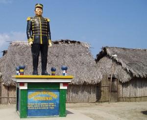 A Statue in Mulatupu Village Plaza, San Blas