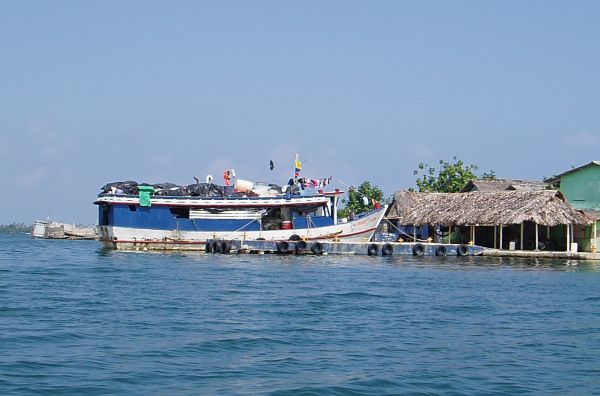 Colombian Trading Ship Bringing Supplies to Villages in San Blas/Panama