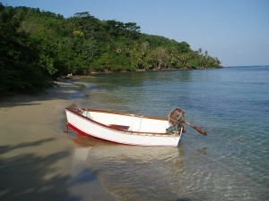 Our Dinghy on Suledup Beach