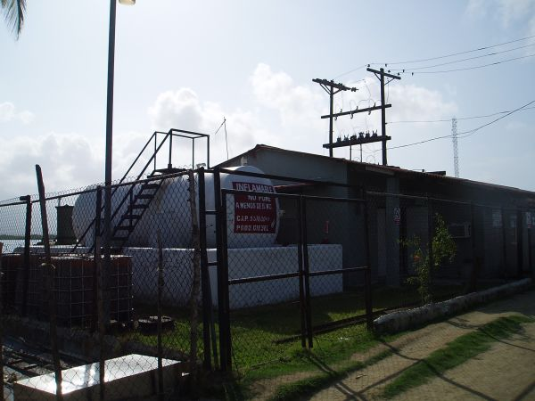 Electric Plant in Rio Diablo Village; first power plant we saw in San Blas/Panama.