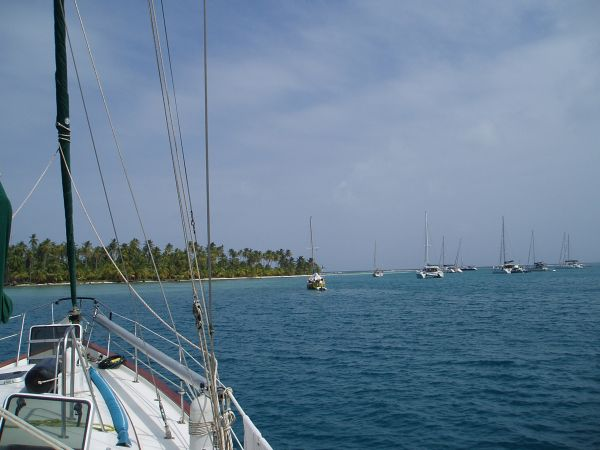 Anchorage at Green Island, San Blas/Panama