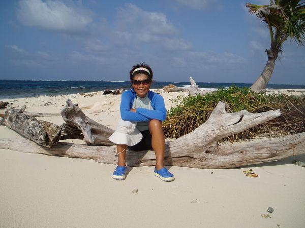 at Warsopguadup Island in Coco Bandero Cays, San Blas/Panama