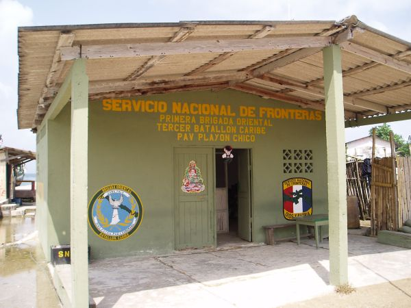 Police Station at Playon Chico Village; there is no military in San Blas/Panama.