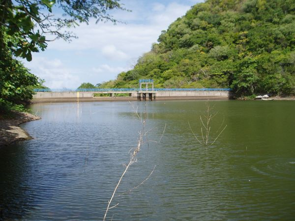 Reservoir in Providencia, Colombia