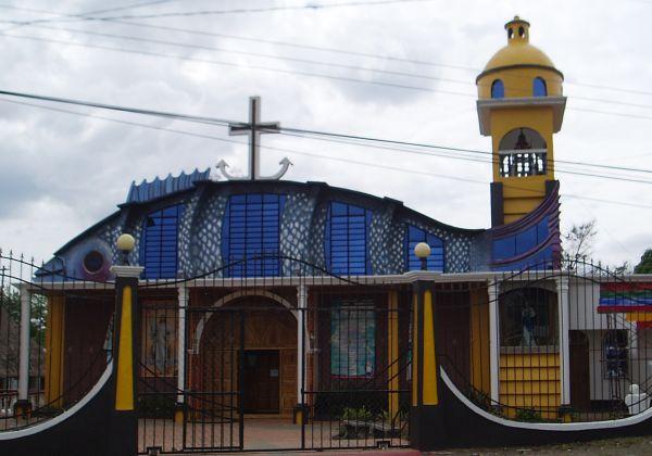 Church Building in El Estor, Guatemala