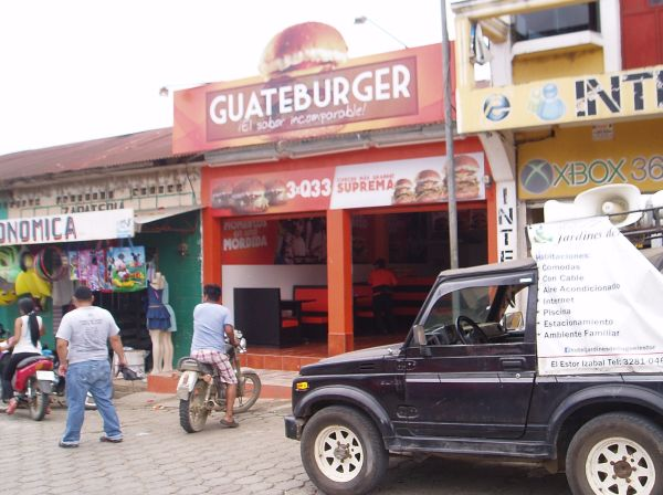 Hamburger Store in El Estor, Guatemala