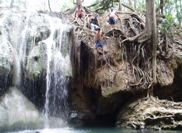 Hot Spring by Finca Paraiso, Rio Dulce, Guatemala