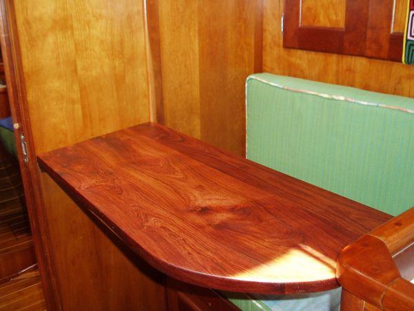Custom Made Detachable Desk (Roseau Wood) in My Cabin, Rio Dulce, Guatemala
