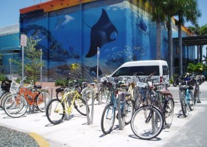 Building Paint and Rental Bicycles in Key West, Florida, USA
