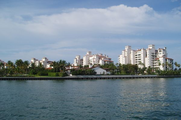 "Fisher Island in Miami; according to Wikipedia, ""as of the 2010 census, Fisher Island had the highest per capita income of any place in the United States."""